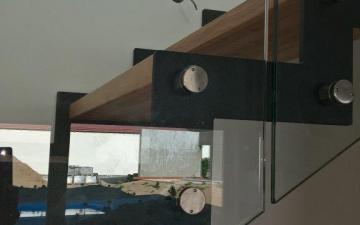 Schodiště kombinované DUB - sklo
